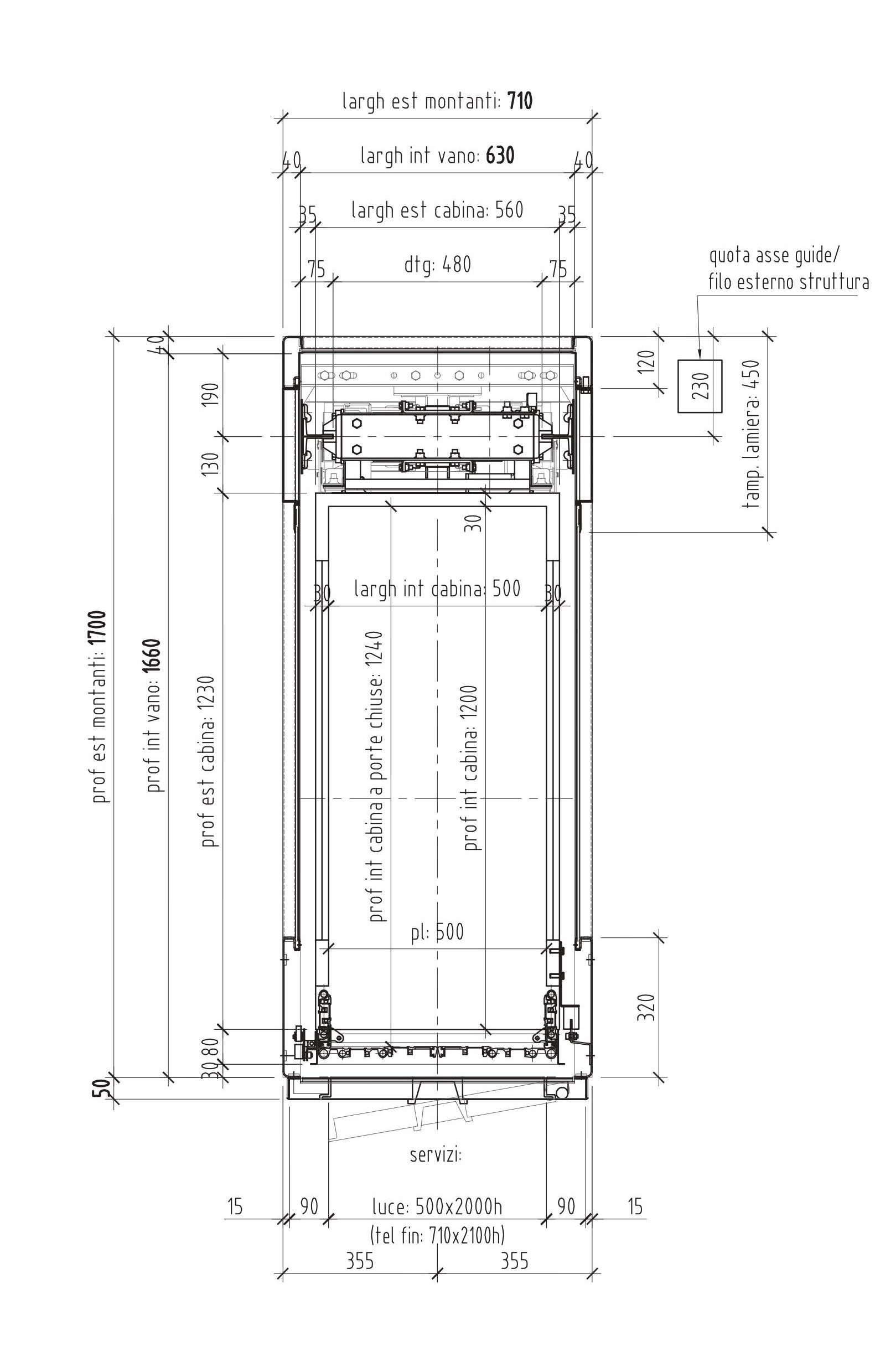 71 cm il mini ascensore per interno for Ascensore dimensioni