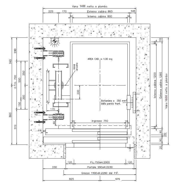 Guida n 1 per dimensionare il vano ascensore a norma - Misure bagno minimo ...